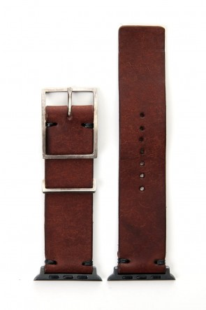 iolom Classic Apple Watch Band - Habana Leather Smeraldo  - Silver Type 2
