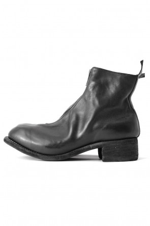 GuidiFront Zip Boots Double Sole - Horse Full Grain Leather