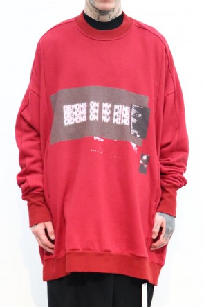 NILøS 19-20AW D.M.M. EXTRA BIG SWEATSHIRT Red