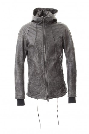 SADDAM TEISSY 20SS Ash Dye Hose Leather Hood JKT