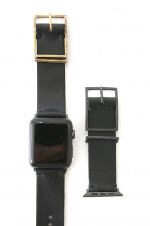 iolom Classic Apple Watch Band - Guidi Cordovan - Brass Type 2