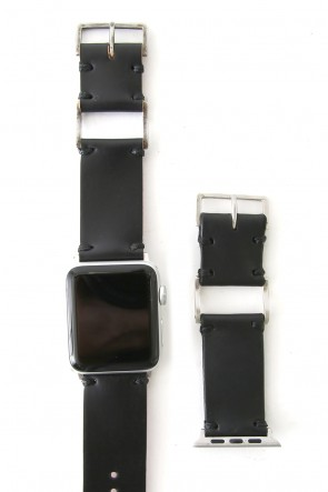 iolom Classic Apple Watch Band - Guidi Cordovan - Silver Type 1
