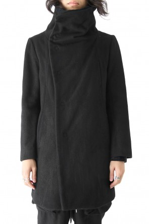 The Viridi-anne 16-17AW Coating Wool Melton High Neck Coat