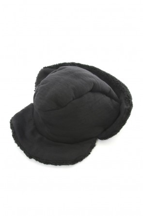The Viridi-anne 18-19AW Reinhard Plank Cut Pile Bore Cap Hat Black