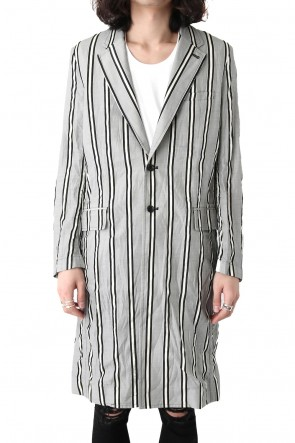 GalaabenD 18SS GROOVE STRIPE JACQUARD LONG JACKET