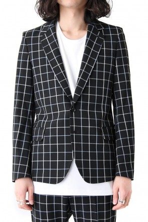 GalaabenD 18SS Tattersall Check Stretch 2B Jacket