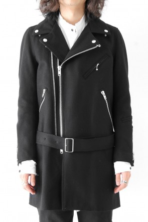 The Viridi-anne 17-18AW Needle Punch Melton Riders Coat