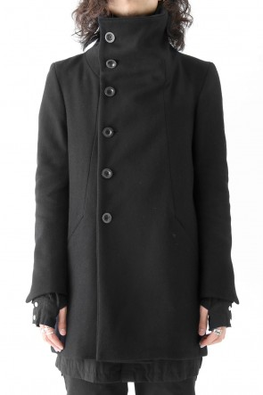 The Viridi-anne 17-18AW Wool Nylon Melton High Neck Coat Short