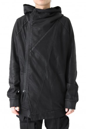 JULIUS 18SS GEOMETRIC COATED ZIP UP HOODIE - JULIUS
