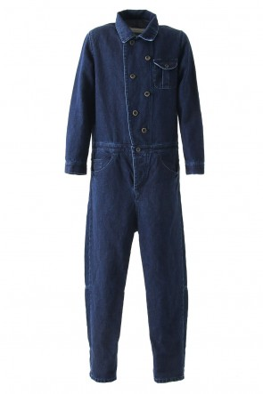 individual sentiments 17SS Overall OP15 Cotton Linen Herringbone Denim - individual sentiments