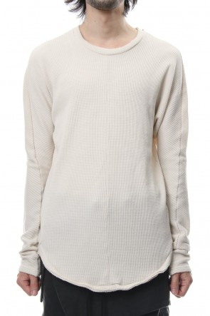 RIPVANWINKLE 18-19AW Snow Top Waffle Dolman Sleeve RB-034 Off White