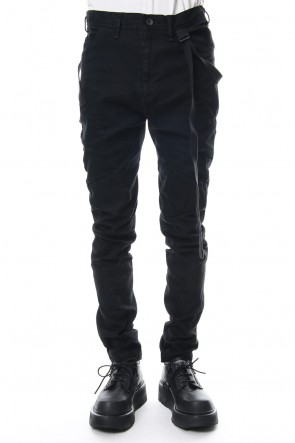 JULIUS 19PS TWISTED SKINNY PANTS Black