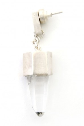 Parts of Four 18SS Talisman Dangle Earring (Tiny Lemurian)