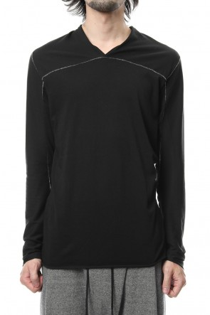 RIPVANWINKLE 18-19AW T/C 30/1 Jersey Cross Neck L/S RB-011 Black