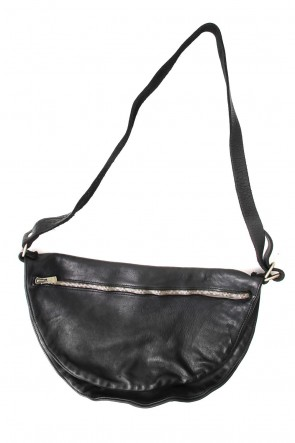 Guidi BASIC Soft Horse Leather Body bag - Q09 - BLACK
