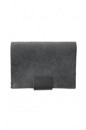 iolom Classic Cow Leather Coin Case Nappa Nevia - Wax Black