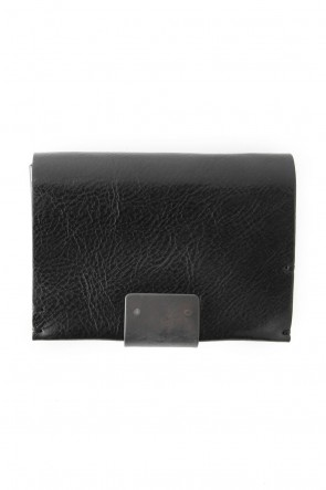 iolom Classic Cow Leather Coin Case Nappa Nevia - Black