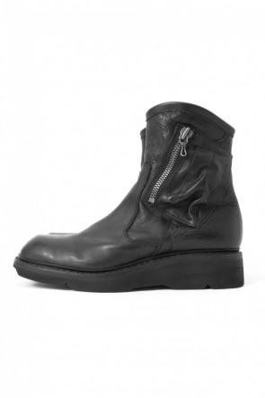 JULIUS17SS17SS Double Side Zip Engineer Boots SMOOTH
