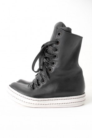James Kearns BASIC 10holes Horse Leather (GUIDI) BLACK×WHITE
