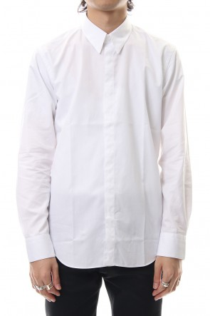 JOHN LAWRENCE SULLIVAN 19-20AW BROADCLOTH BUTTON DOWN SHIRT White