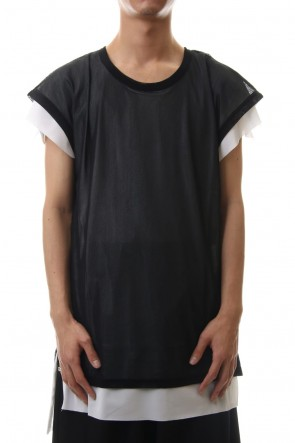 kiryuyrik 20SS Layered Drop T-Shirts Black x White