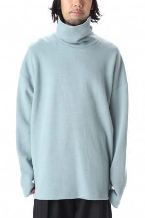 KAZUYUKI KUMAGAI 20-21AW Double face knit turtleneck L/S L.Blue