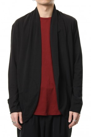 KAZUYUKI KUMAGAI 19SS 80/2 Tight Tension Cloth Stole Cardigan Black
