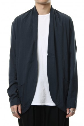 KAZUYUKI KUMAGAI 19SS 80/2 Tight Tension Cloth Stole Cardigan D.Green