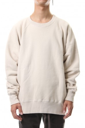 KAZUYUKI KUMAGAI 19-20AW Cold die fleece L/S sweat Off White
