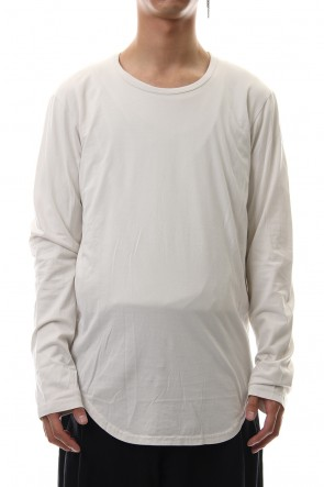 KAZUYUKI KUMAGAI 19-20AW 80/2 Tightness plain stitches crew neck L/S cut&sewn Off White
