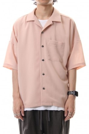 KAZUYUKI KUMAGAI 19PF Savanna Poplin Drop Shoulder S/S Shirt L.Pink