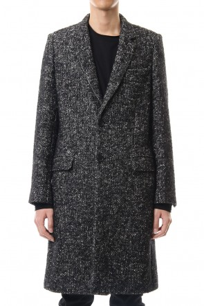 LITHIUM HOMME19-20AWRAFANELLI TWEED NEW CLASSIC CHESTERFIELD COAT