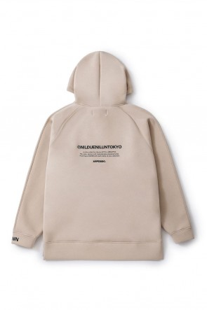NIL DUE / NIL UN TOKYO20SSEMBROIDERY LOGO HOODIE SAND