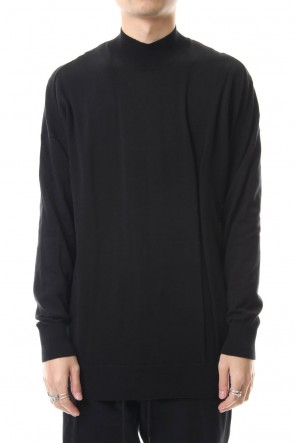 DEVOA 20SS Knit high neck Cotton Black