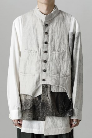 """ZIGGY CHEN21-22AW""""Double Layer"""" Single Breasted Waistcoat"""