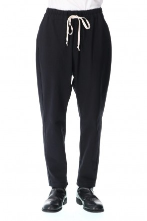 individual sentiments20-21AWLight Cotton Jersey Easy Pants Black