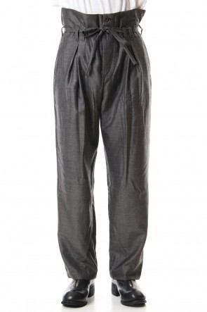 individual sentiments 19-20AW Wool Twill High West Pants - PA83-LW4