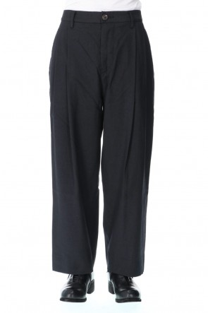 ZIGGY CHEN 20-21AW Wool Silk Tuck Wide Pants