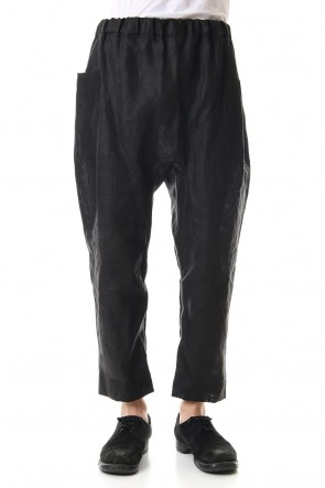 WARE 19-20AW Linen Cropped Pants Black