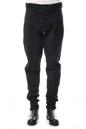 ISAAC SELLAM 18-19AW Stretch Leather Pants PISTONNE Noir