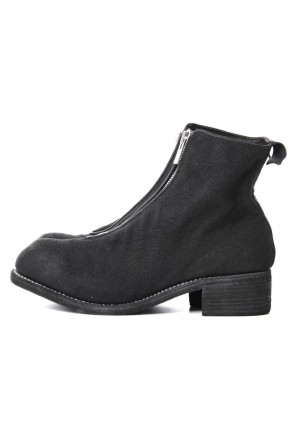 Guidi 19SS Front Zip Boots Double Sole - Linen - Black