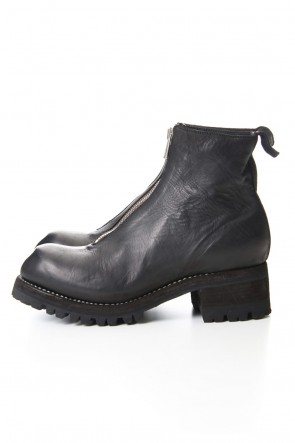 Guidi19-20AWVibram Sole Front Zip Boots - Horse Full Grain Leather - PL1V