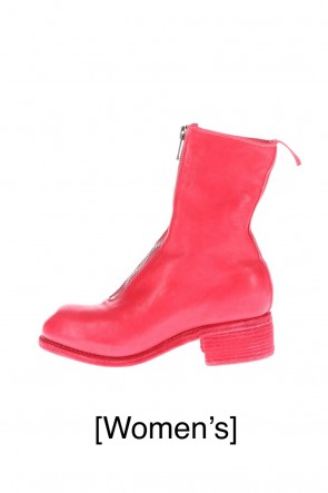 Guidi20-21AWWomen's Long Front Zip Boots - Horse Full Grain Leather  Pink