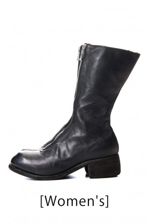 Guidi19-20AWSuper Long Front Zip Boots - Soft Horse Full Grain Leather - PL9