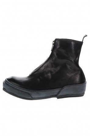 Guidi 21SS Soft Horse Full Grain Lined Front Zip Boots Black - PLS