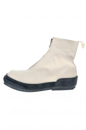 Guidi 20SS Soft Horse Full Grain Lined Front Zip Boots White - PLS