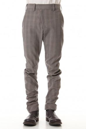 DEVOA 19SS Slim Pants Cotton Glen Check - Beige