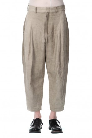 DEVOA21SSCropped pants cotton/ ramie/ canapa cold dyed