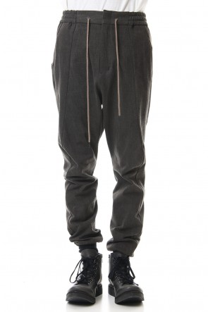 DEVOA 20SS Easy pants Cotton jersey Charcoal Dye