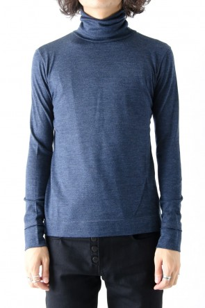 QL Mansion Maker 17-18AW STANDARD WOOL JARSEY TURTLE NAVY